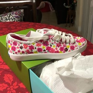 New leather floral Kate Spade Keds 7 1/2